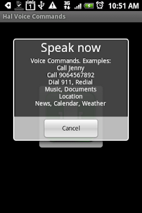 Hal Voice Commands - screenshot thumbnail