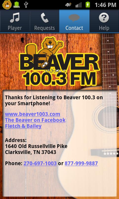 Beaver 100.3 - screenshot