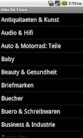 Screenshot of 1 Euro Auktionen