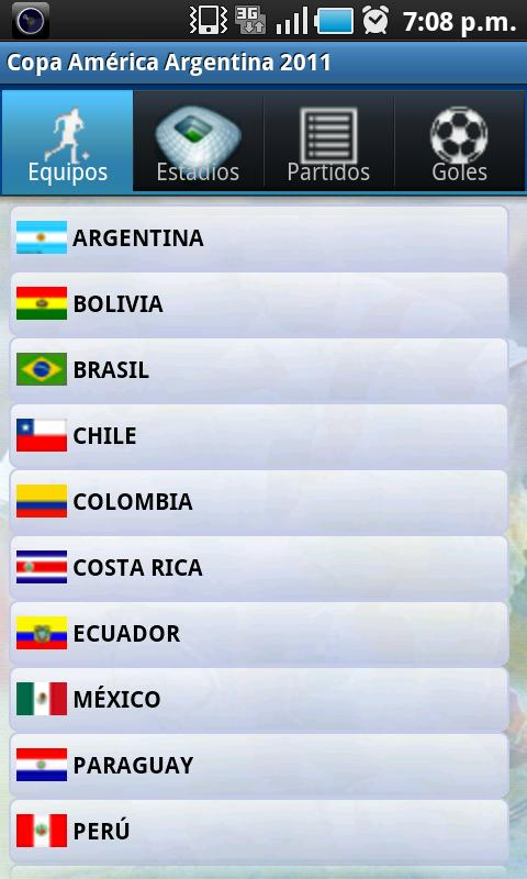 Copa América 2011 - screenshot