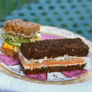 Smoked Salmon and Endive Tea Sandwiches.