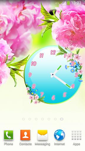 花卉 時鐘 小工具