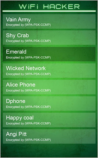 WiFi Password Hacker Prank Screenshot