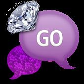 GO SMS - PurpleDiamondFlowers