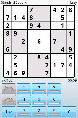 Super Sudoku - screenshot