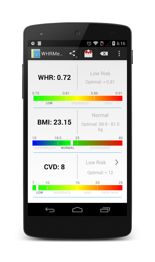 WHRMeter BMI WHR CVD measure- screenshot