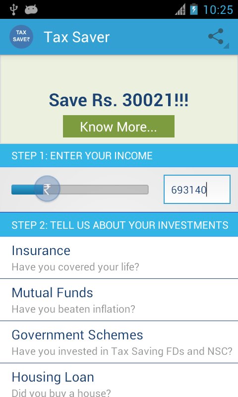 Tax Saver for India - screenshot