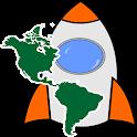 MAPA DE PAISES DE AMERICA icon