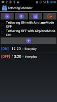 Screenshot of TetheringScheduler