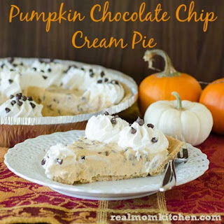Pumpkin Chocolate Chip Cream Pie