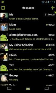 Go SMS Theme Black Minimal