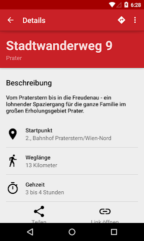 Screenshot 2 Wanderwege Wien