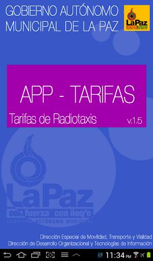 Tarifario radiotaxis La Paz