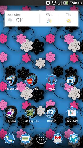 Floral Print Blue v2 Theme