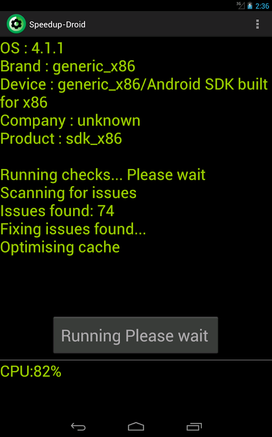 Speedup Droid - screenshot