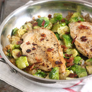Chicken with Bacon-y Brussels Sprouts.