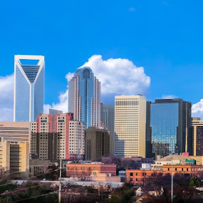 Panoramic of Charlotte, NC by RomanDA Photography - City,  Street & Park  Skylines