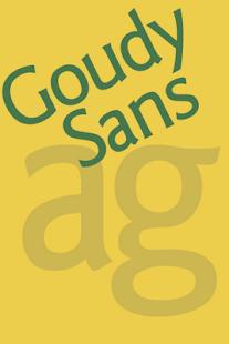 Goudy Sans FlipFont
