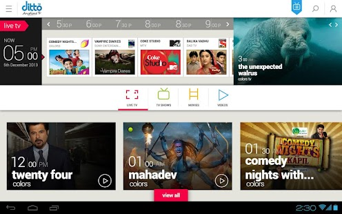 Ditto TV: LiveTV,Movies,Videos - screenshot thumbnail