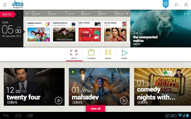 dittoTV: LiveTV, Shows, Movies v3.0.20151008.1