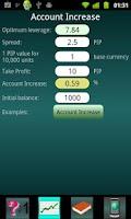 Screenshot of Forex trade optimizer
