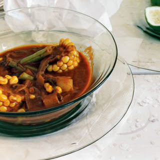Red Chileatole with Fall Vegetables