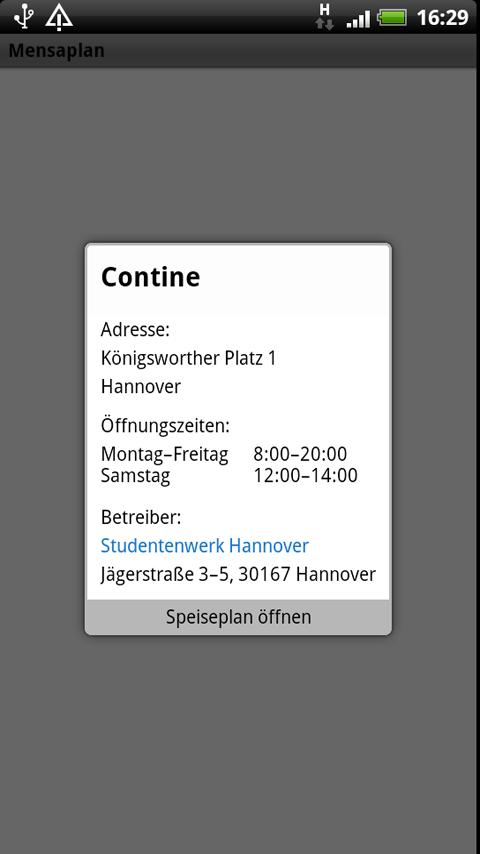 Mensaplan lite - screenshot