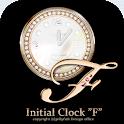 イニシャルF☆姫系アナログ時計ウィジェット icon