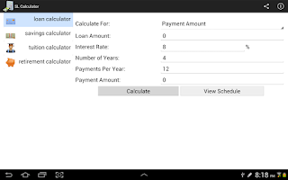 Screenshot of SL Calculator