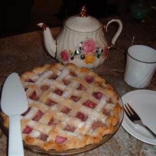 Pineapple Rhubarb Pie.