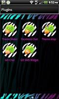 Screenshot of GO SMS - Pastel Zebra