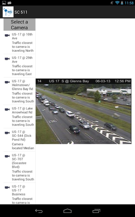 511 South Carolina Traffic- screenshot
