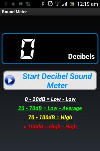 Sound Decibels Meter
