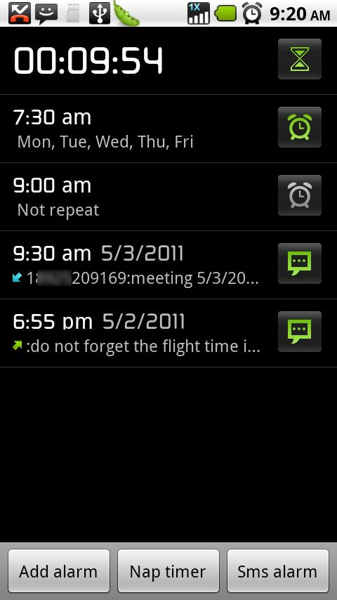 Flying alarm clock - screenshot