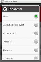 Screenshot of Calendar SnoozeKey