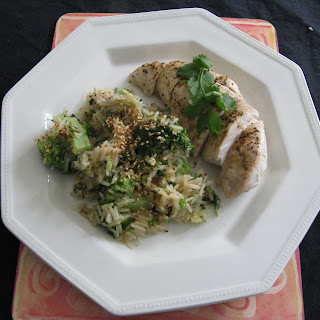 Chicken with Miso Sauce and Broccoli Sesame Rice Recipe