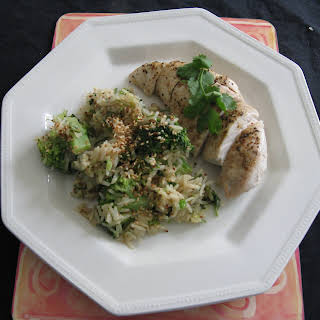 Chicken with Miso Sauce and Broccoli Sesame Rice.
