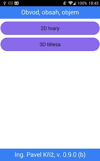 【免費教育App】Obvod, obsah, objem-APP點子