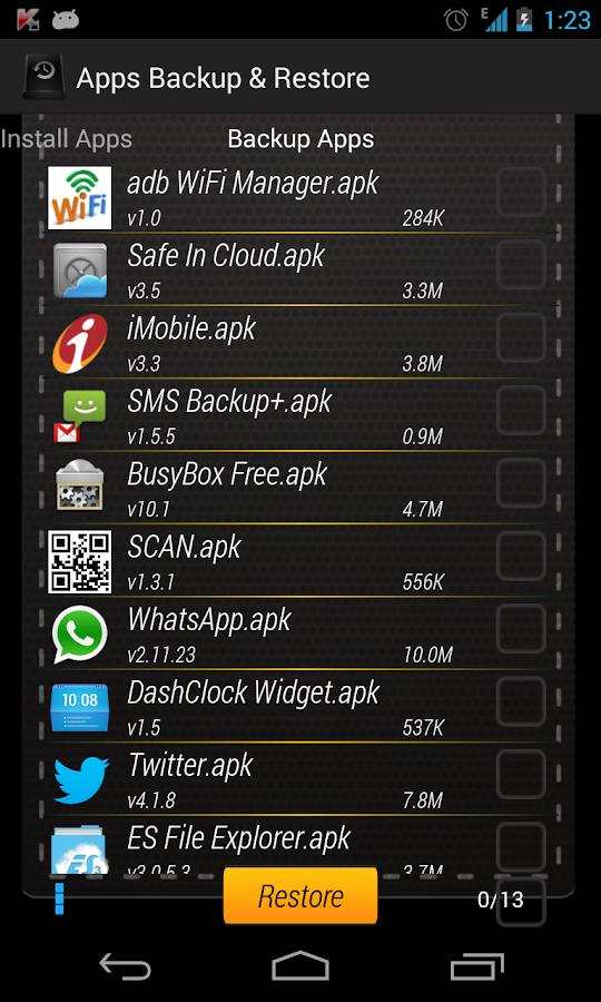 Apps Backup & Restore - screenshot