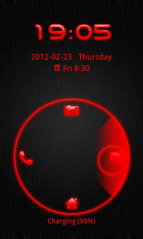 Go Locker Theme Red Tech- screenshot