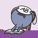 폰꾸미기 혈액형AB형LOVE icon