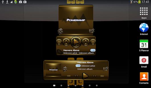 Poweramp widgetpack BLACK GOLD