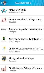Malaysia Colleges- screenshot thumbnail