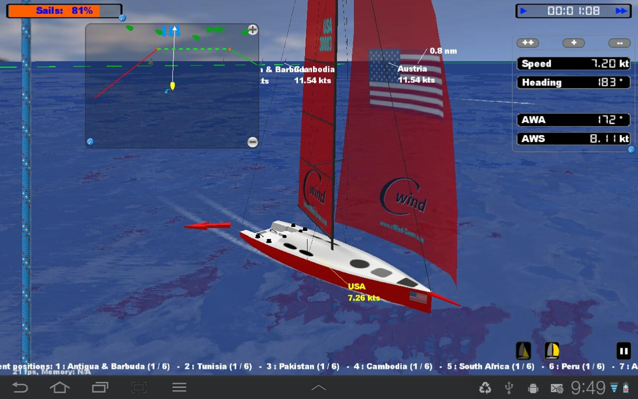 cWind Sailing Simulator- screenshot