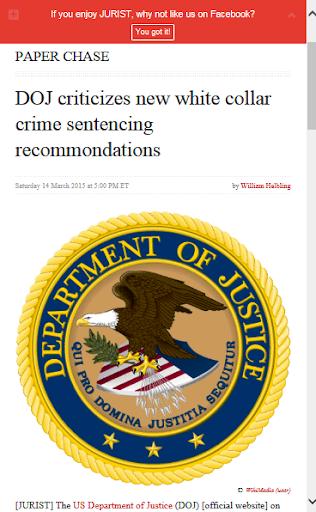 White Collar Crime News