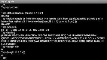 Screenshot of tiny Lisp ISLisproid