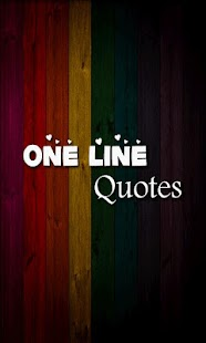 One Line Quotes On Life Awesome One Line Quotes  Android Apps On Google Play
