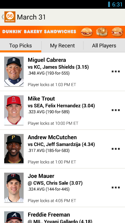 MLB.com Beat the Streak - screenshot