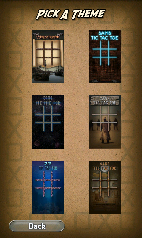 Tic Tac Toe 6 Themes Sams- screenshot