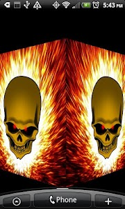 Flaming Skull Live Wallpaper screenshot 2